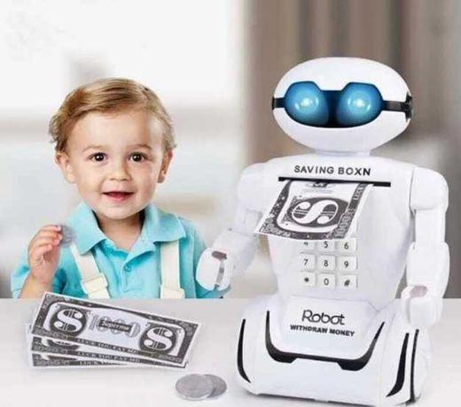 Детский сейф РОБОТ с электронным кодовым замком Robot Piggy Bank
