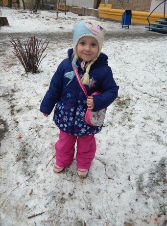 Зимняя куртка еврозима холодная осень Эльза Disney с Frozen