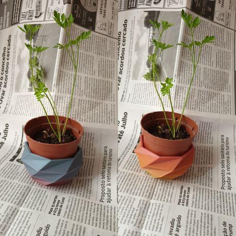 Base colorida para vaso de plantas / ervas aromaticas