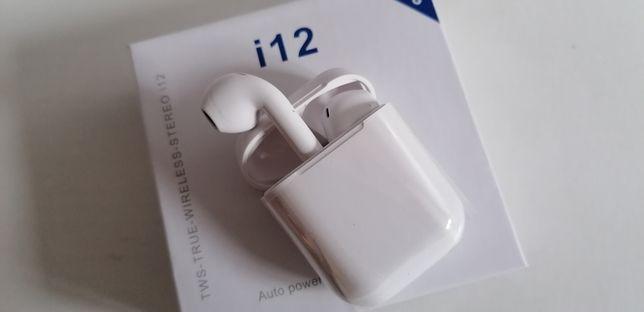 i12 tws bluetooth słuchawki bezprzewodowe douszne powerbank