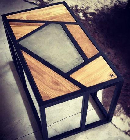 Стіл ( метал + дерево ) , меблі лофт