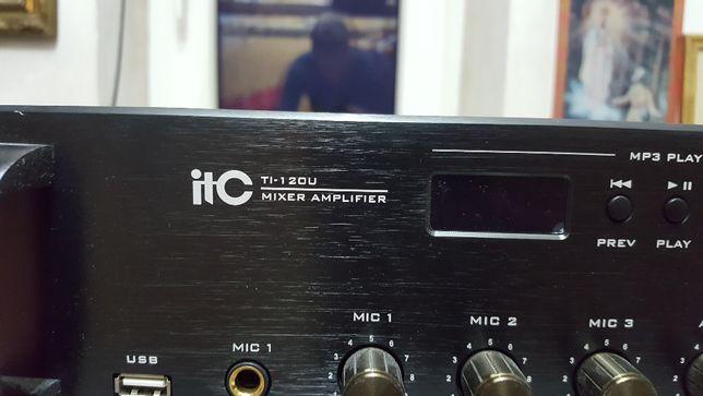 Wzmacniacz ITC TI-120U + głośniki ITC T-774. MP3/USB