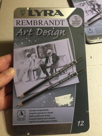 Estojo de 12 lápis de grafite - vários graus de dureza