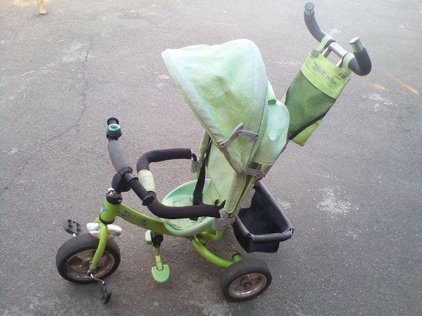 Велосипед трёхколёсный Azimut Trike с родительской ручкой