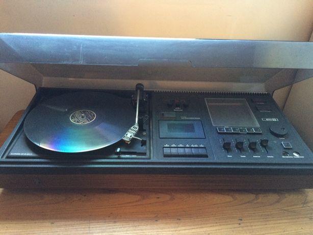 Stare radio ACEC, gramofon, winyle, odtwarzacz winyli, głośniki