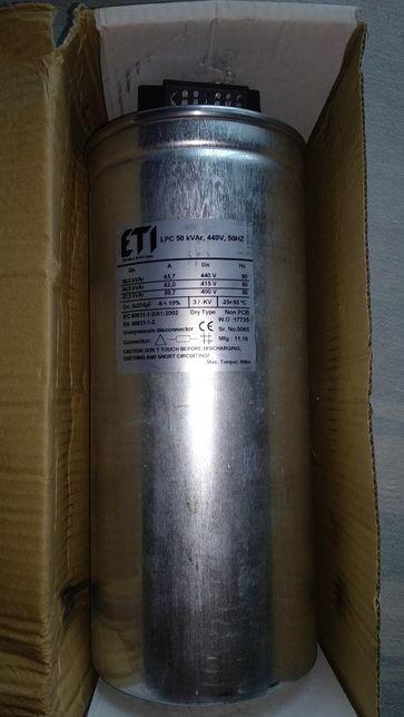 Продам новый конденсатор трехфазный LPC 50kVAr (400-440V) ETI