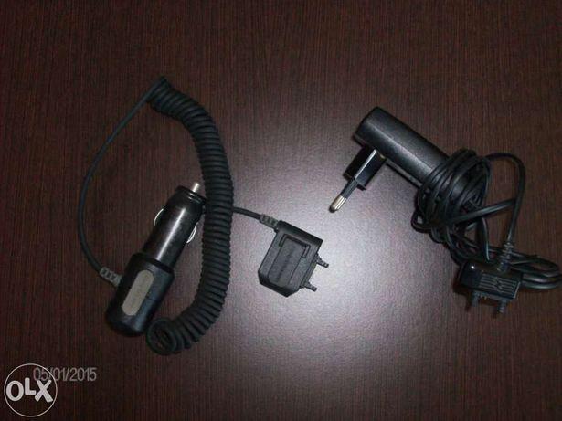 2 Carregadores telemovel Sony Erickson,um tomada elétrica outro carro
