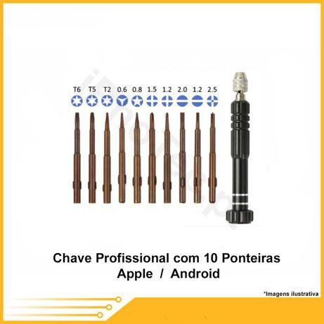 Chave Profissional com 10 Ponteiras Apple / iPhone / IPad / Android