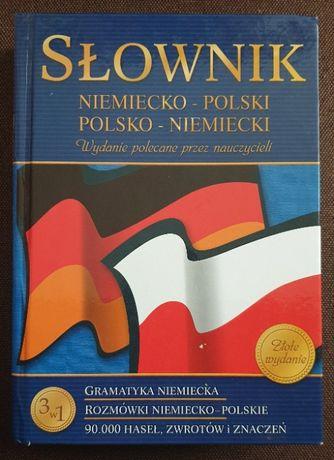 Słownik niemiecko-polski, polsko-niemiecki. 90 000 haseł! + gramatyka!