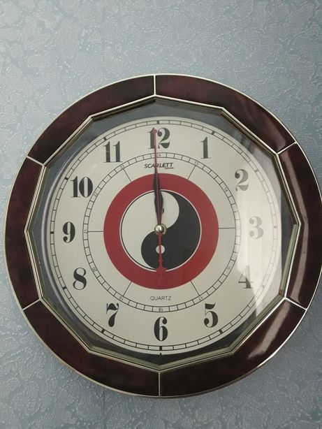 Часы настенные инь-янь