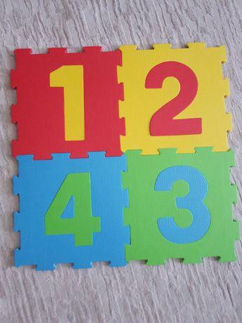 Piankowe mega puzzle z cyframi 1-8