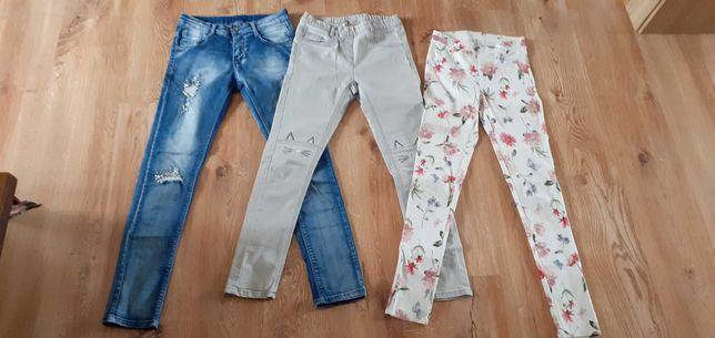 Spodnie dziewczęce rozmiar 152
