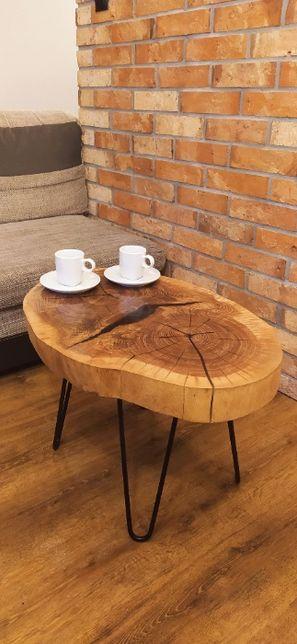 stolik kawowy plaster dębu 48cm/68cm