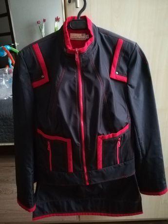 Костюм женский, куртка и юбка, демисезонный, размер М