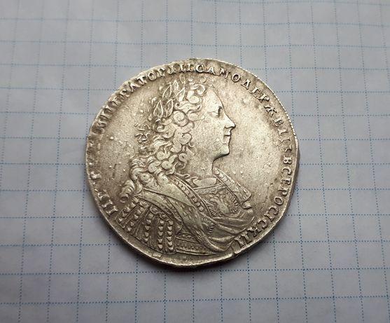 Рубль 1728года, петр II,2 монета серебро,оригинал + бонус 5коп 1758г