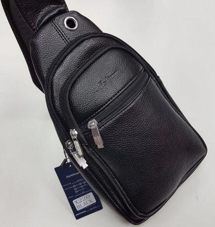 Мужская кожаная сумка через плечо, сумка для документов на плечо