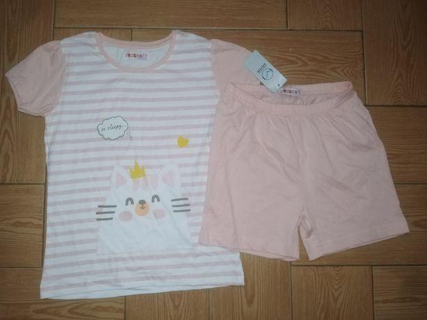 Nowa piżama dziewczęca 122-128 Kotek