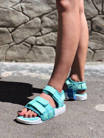 Женские босоножки  Adidas adilette 20 Бирюзовы! Топ качество! 37-39р!