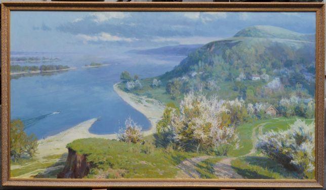 "Картины ""Днепровские кручи"". Холст, масло. Размер холста 110х200 см."