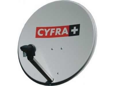 Antena satelitarna z konwerterem i tunerem satelitarnym