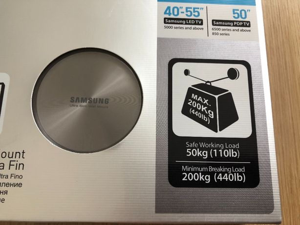 Nowy wieszak Samsung WMN1000B do telewizorów od 40 do 55 cali.