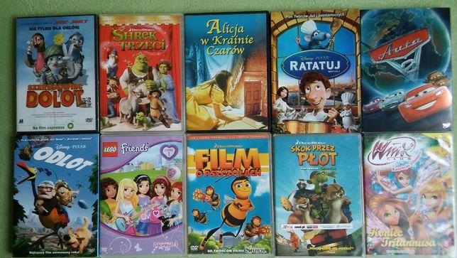 Filmy dla dzieci na dvd dostępnych 28 szt.