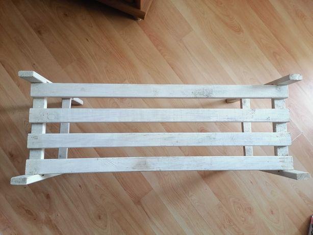 Ławeczka półka biała