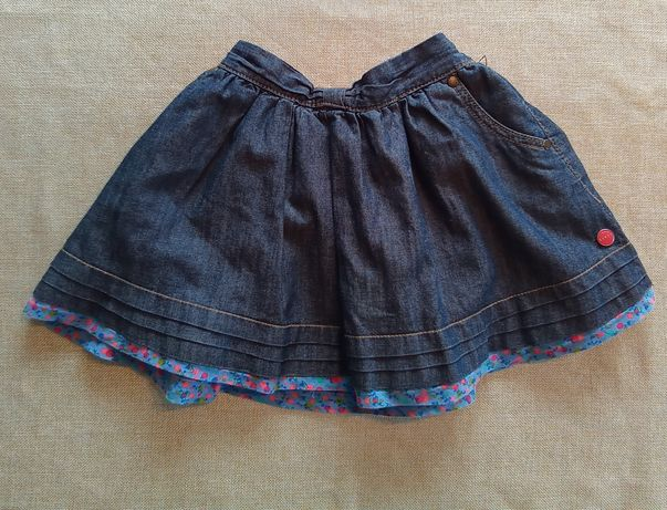 Spódniczka jeansowa granatowa rozmiar 92 98 dziewczynka 2-3 lata