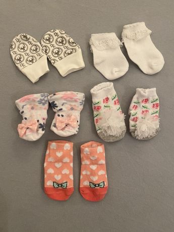 Skarpetki Coccodrillo i niedrapki Dear Eco dla noworodka