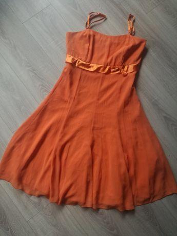 Sukienka zwiewna, na ramiączkach