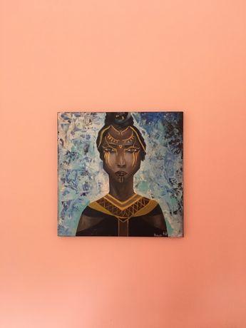 Картина маслом африканка