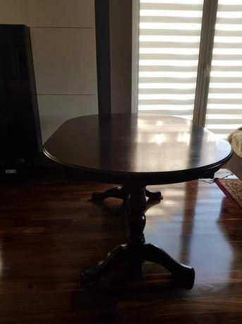 Stół i ława ciemny brąz
