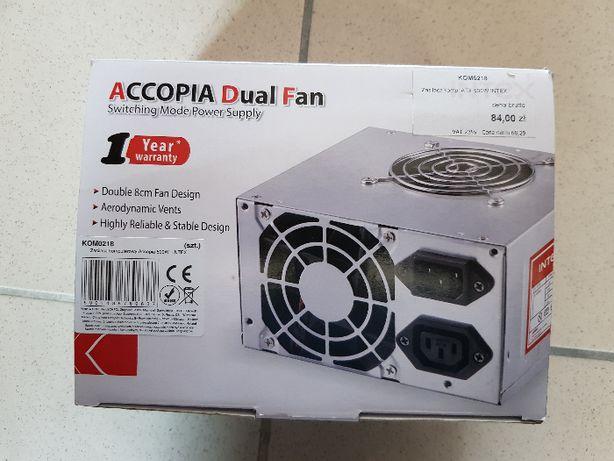 NOWY zasilacz ATX 500W 20+4pin,2sata,3hdd,2fan