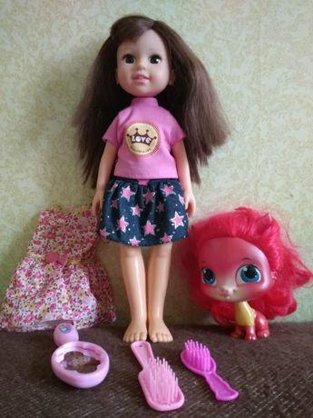 Кукла 32 см с питомцем