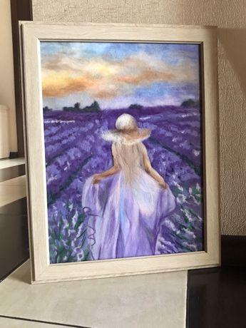 Картина прованс лавандовое поле лаванда лавандовый рассвет