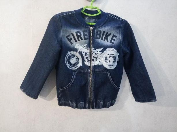 Куртка пиджак джинсовый на мальчика 4 - 5 лет