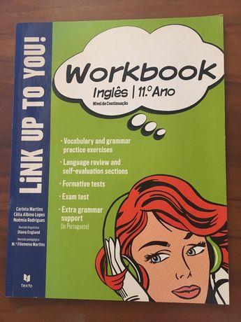 """Caderno de atividades inglês 11° """"Link Up To You"""""""