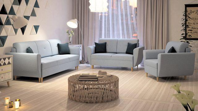 Zestaw HALDEN 3+2+1 fotel kanapa funkcja spania Szybka Realizacja