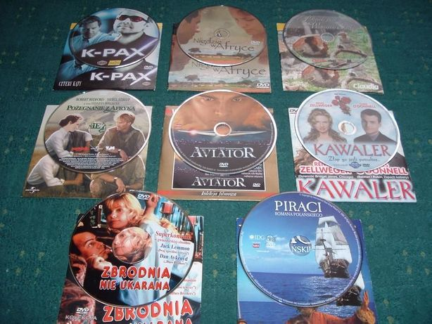 Filmy DVD - 8 tytułów.