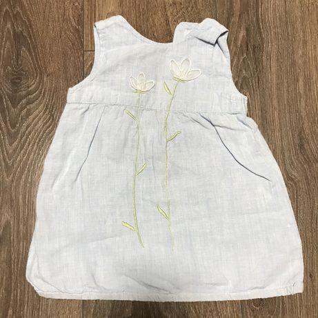 Плаття платье h&m льон 3-6 міс