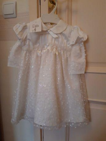 Novo Vestido 100% seda de baptizado ou outro tipo de cerimónia