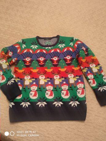 Новогодний свитер на мальчика 13-14 лет