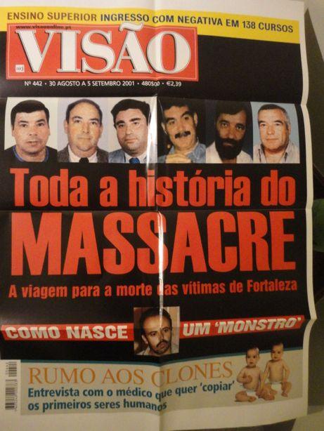 Poster Gigante Capa Revista Visão nº442 de 30 Agosto 2001