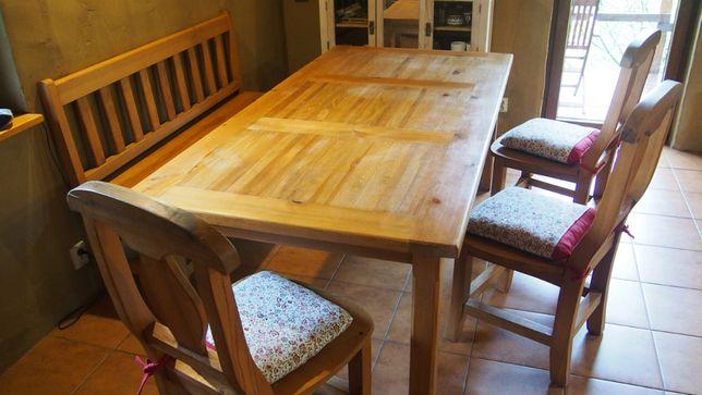 Stół drewniany woskowany na 8-10 osób 200x100cm drewno masywny wosk