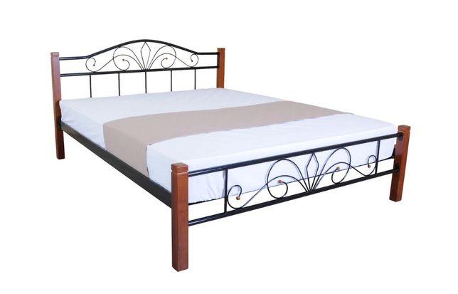 """Кровать """"Лара"""" металл\дерево"""