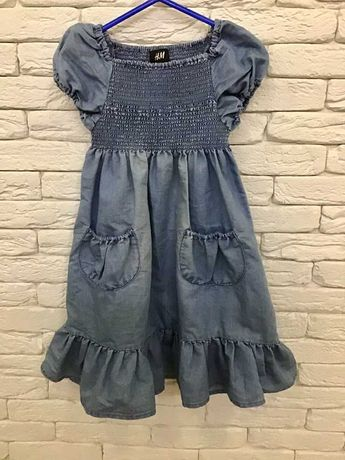 Плаття красиве джинсове 4-5р H&M
