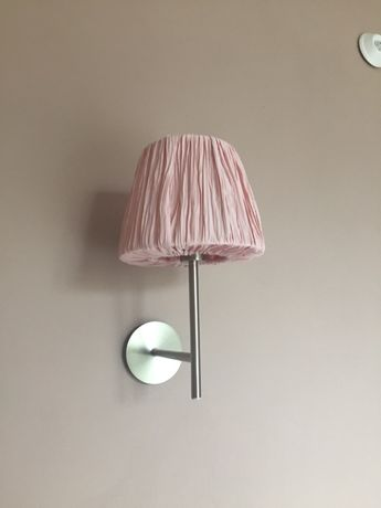 Kinkiet / lampa ścienna / pastelowy róż