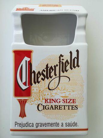 Cinzeiro com grande capacidade Chesterfield em louça (NOVO)