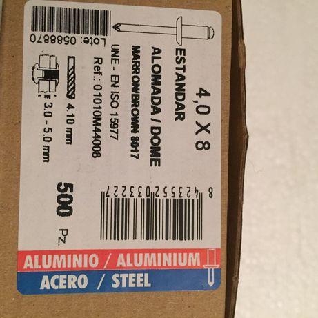 Заклепка алюминий \сталь 4•8 Ral 8017