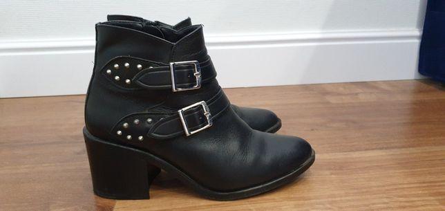 Zara Ботинки кожаные